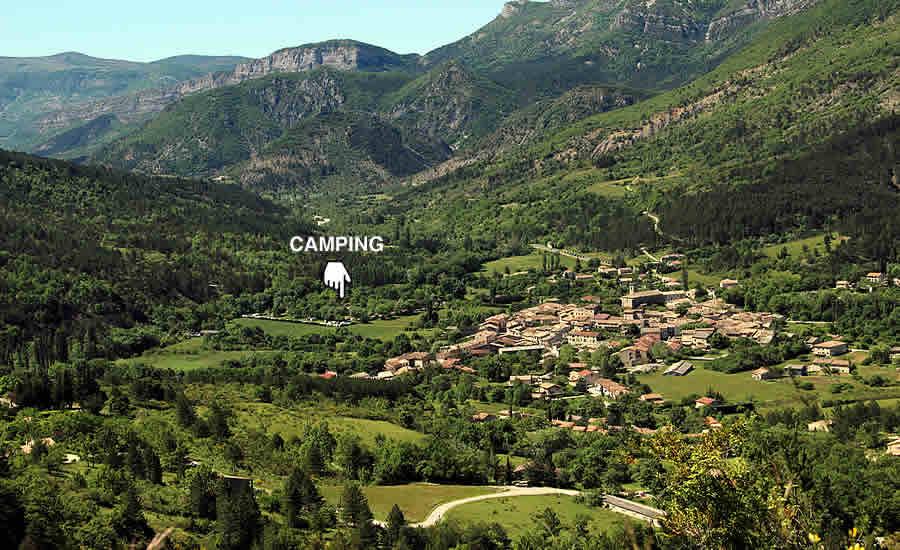 Camping-site Le Village in La Motte Chalancon